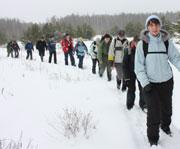 Фотография с зимнего пешего похода выходного дня. Читать отчет здесь. Фото Хараджиева Ксения