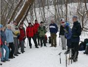 Занятия в школе подготовки по горному туризму перед походом на Кавказ