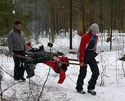 Статья про организации бивака в походе в зимой, мнение новичка