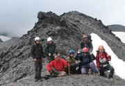 группа горных туристов Клуба АТО на перевале