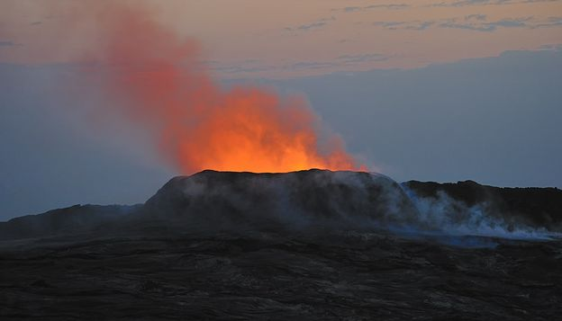 Вулкан Эрта Але находится в провинции Афар пустыня Данакиль в Эфиопии