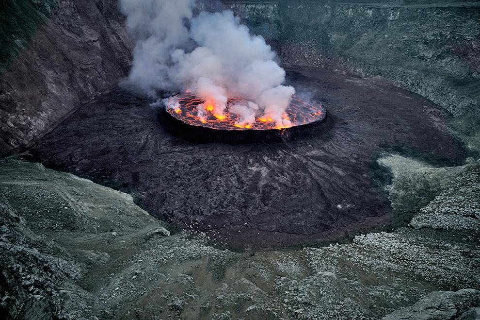 Вулкан Ньирагонго в Центральной Африке